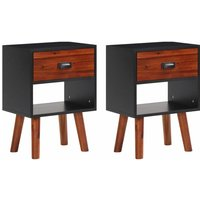 Leopoldo 1 Drawer Bedside Table by Black - Brayden Studio