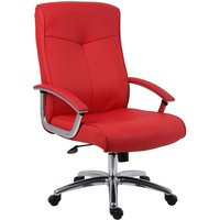 Netfurniture - Ler Leather Faced Office Chair Red