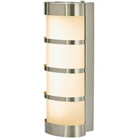 Lampenwelt - Leroy Stainless LED Exterior Wall Lamp
