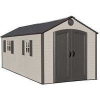 8x12.5 Heavy Duty Plastic Shed - Lifetime