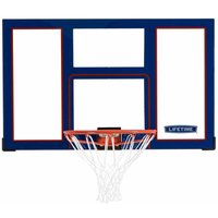 Basketball Backboard and Rim Combo (48-Inch Polycarbonate) - Blue - Lifetime