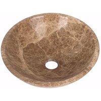 Light Emperador Marble Wash Basin Bowl Bathroom 400mm diameter (B0044)