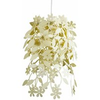 Light Yellow Cream Floral Chandelier Ceiling Pendant Light Shade - MINISUN