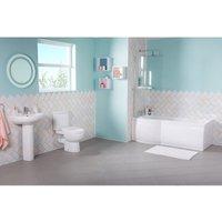 Lima Bathroom Suite with Left Hand P Shape Shower Bath - AQUARISS