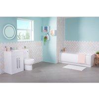 Aquariss - Lima Bathroom Suite with LH White Combi Vanity Unit