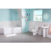 Lima Bathroom Suite with Right Hand L Shape Shower Bath - AQUARISS
