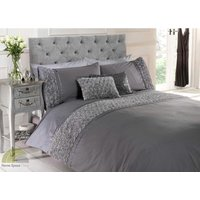 Limoge duvet cover and pillowcase set - grey - double - RAPPORT