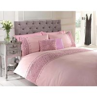 Limoge duvet cover and pillowcase set - pink - double - RAPPORT