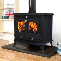 Lincsfire Branston 12KW Cast Iron Log Burner MultiFuel WoodBurning Stove Clean Burn WoodBurner Woodburning Fireplace