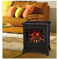 New 1850W Portable Electric Stove Fire Place Fireplace Heater Freestanding | Log Burning Flame Effect | 2 Heat Settings - Lincsfire