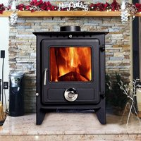 Reepham MultiFuel Fireplace Stove 8KW High Efficiency Log Burner Wood Burning WoodBurner - Lincsfire