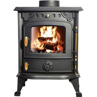 Saxilby JA013 6.5KW Multifuel Woodburning Stove Wood Burner Log Burning Fire Fireplace Cast Iron Woodburner - Lincsfire