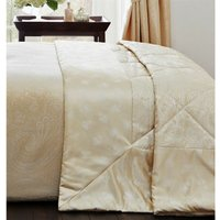 Linden Gold Quilted Throwover Decorative Jacquard Throw - BEDMAKER