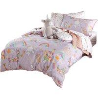 Linen House Childrens/Kids Unicorniverse Duvet Cover Set (Double) (Lilac)