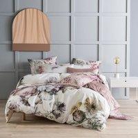 Ellaria Duvet Cover Set (Super King) (Multicoloured) - Linen House