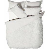 Manisha Tufted Duvet Cover Set (King) (White) - Linen House