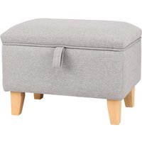 Livingandhome - Linen Storage Ottoman Organizer Seat Stool Bench Chest Toy Box Pouffe Footstool