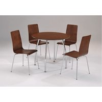 Netfurniture - Lingham Wood Dining Set Circular Round