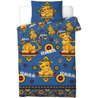 Childrens/Kids Simba Single Rotary Duvet Cover Set (One Size) (Blue) - Lion King