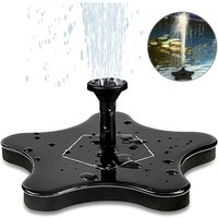 Solar Fountain, Electric Solar Water Pump Solar Panel Pump 1.4W Garden Outdoor Watering Floating Pump for Garden Patio Birds Pond Pool and Pond