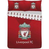 Crest Duvet Cover Set (Double) (Red) - Liverpool Fc