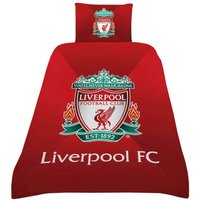 Gradient Duvet Cover Set (Single) (Red/Green) - Liverpool Fc