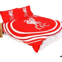 Official Reversible Double Duvet And Pillowcase Set Pulse Design (Double) (Red) - Liverpool Fc