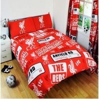 Patch Duvet Set (Double) (Red/White) - Liverpool Fc