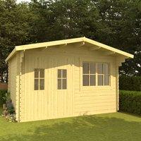 Log Cabin 34 mm 400x376x256.5 cm Solid Pinewood - VIDAXL