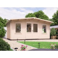 Log Cabin Severn W5m x D3m - Garden Home Office Man Cave Workshop Summerhouse Shed 45mm Walls Double Glazed and Roof Shingles