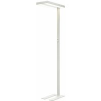Floor Lamp Logan dimmable (modern) in White made of Aluminium for e.g. Office and Workroom (A+) from Arcchio | Standard Lamp, Uplighter, Business