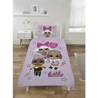 L.O.L Surprise Free Stylin Single Duvet Cover Set, Childrens Bedding Plus Fleece Blanket