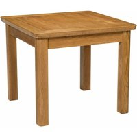Hallowood - London Solid Oak Small Dining Table in Medium Oak Finish 90cm   Wooden Kitchen Dinner Table   Fixed Top