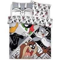 Reversible Duvet Set (Single) (White) - Looney Tunes
