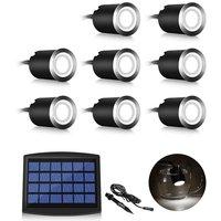 Lot of 8 Mini Spot LED Sun LED Floor Spot, 3W Recessed