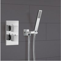 Lotus 1 Way Square Hand Held Concealed Thermostatic Mixer Valve Shower