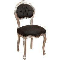 Wooden chair for dining table restaurant pizzeria kitchen farmhouses arte povera antique silver L45x42PRxH90 Cm - BISCOTTINI