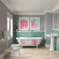 Kiss Kiss Bam Bam traditional complete bathroom suite with freestanding bath - Louise Dear