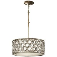 Elstead Lucia - 3 Light Cylindrical Pendant Polished Silver