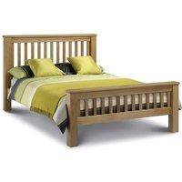 4ft6 Double 135 x 190 LIGHT OAK High Foot End Bed Frame - Lulu