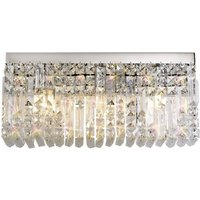 50x24cm Rectangular Large Wall Lamp, 3 Light E14, Polished C