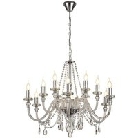 Chandelier Ceiling Pendant, 12 Light E14, Polished Chrome, Clear Glass, Crystal, (ITEM REQUIRES CONSTRUCTION, CONNECTION) - Luminosa Lighting