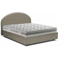 Luna Single Bed With Front Opening Container, Taupe - TALAMO ITALIA