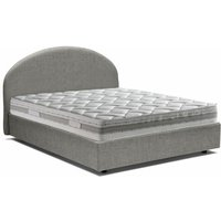 Luna Single Bed With Front Opening Container, Grey - TALAMO ITALIA