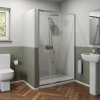 1400mm Sliding Shower Door Enclosure Glass Screen Panel Framed 6mm Safety Glass