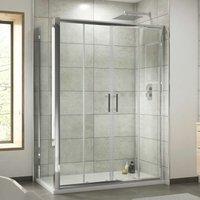 Pacific 1500x1000mm Double Sliding Shower Door Side Panel 6mm Glass - Luxura