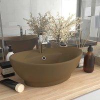 Luxury Basin Overflow Oval Matt Cream 58.5x39 cm Ceramic