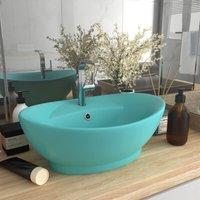 Luxury Basin Overflow Oval Matt Light Green 58.5x39 cm Ceramic