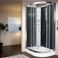 Luxury Electric Shower Cabin Vidalux Pure E LH 1200 x 800 Black Enclosure 8.5kW