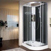 Luxury Electric Shower Cabin Vidalux Pure E LH 1200 x 800 Black Enclosure 9.5kW